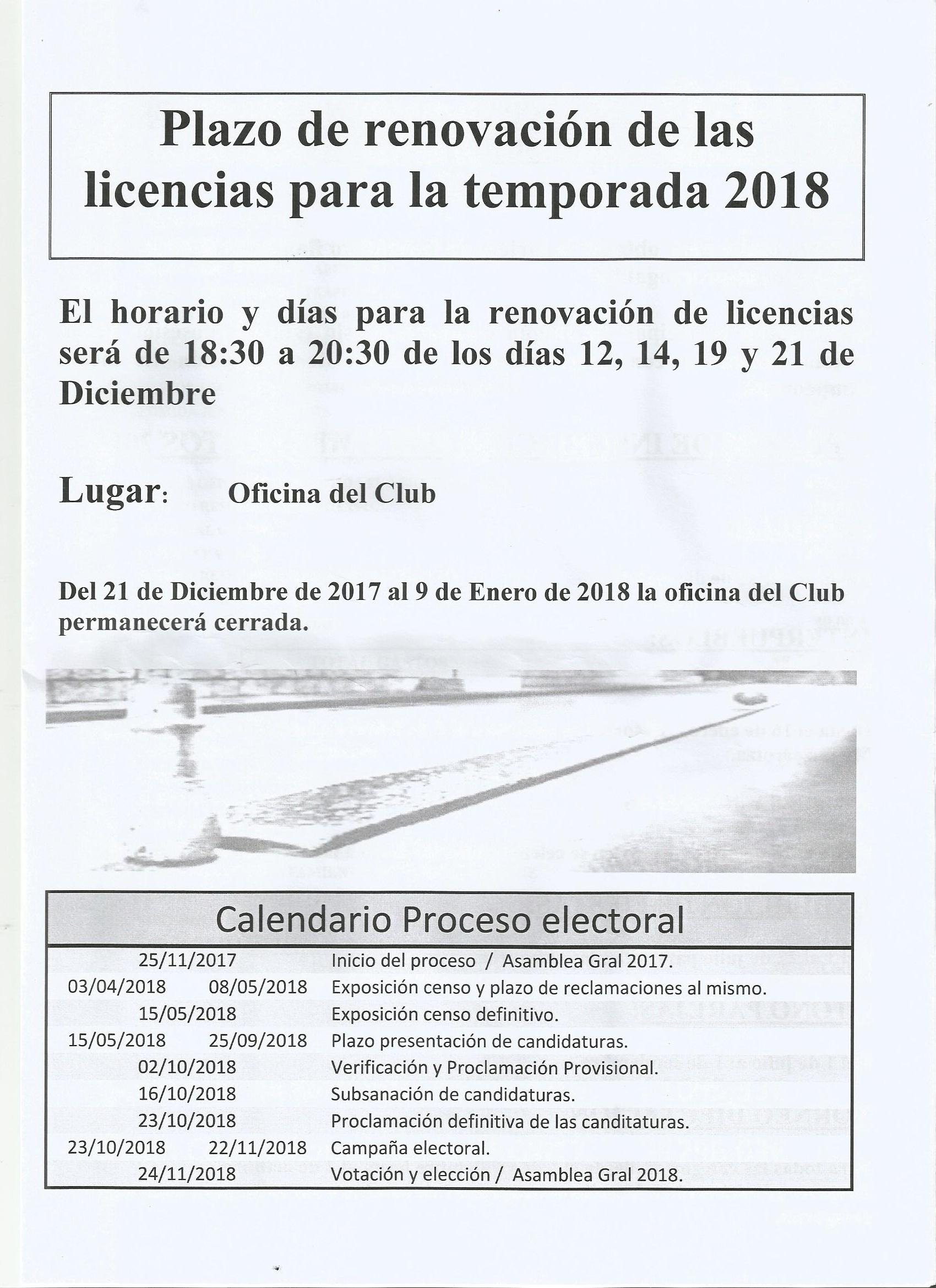 PLAZOS DE RENOVACION 2018